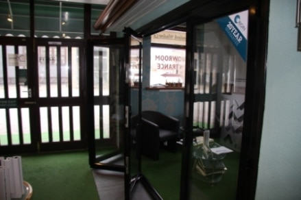 bi-folding door in showroom