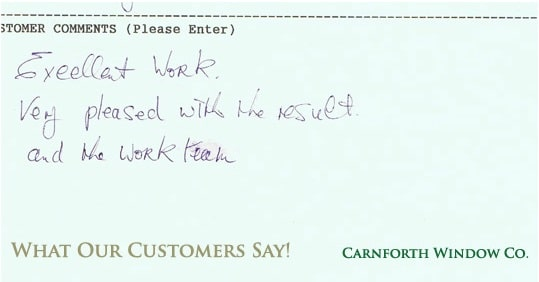 Carnforth Windows testimonial 1